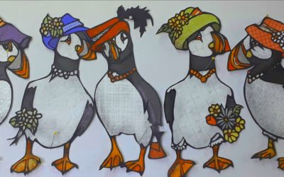 Atlantic Puffins Ready for Easter
